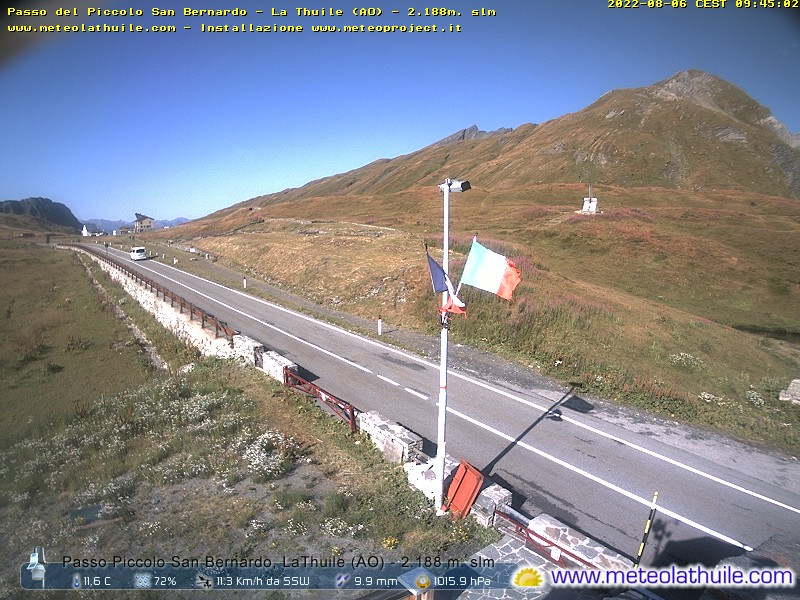 Webcam Passo del Piccolo San Bernardo La Thuile SOUTH